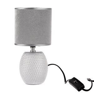 Keramická stolní lampa Luna, stříbrná, 13 x 26,5 x 13 cm