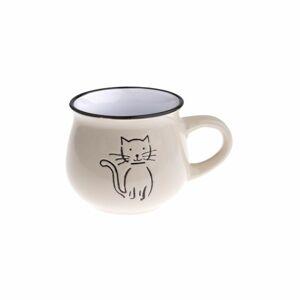 Keramický hrnek Kočka 230 ml, smetanová