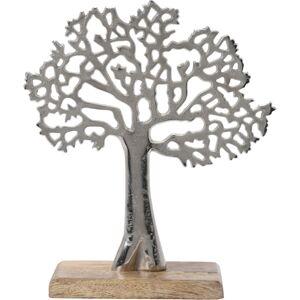 Kovový dekorační strom, 23 x 8 x 27 cm