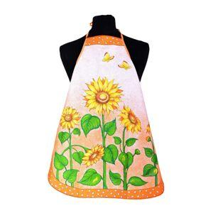 Forbyt Kuchyňská zástěra a chňapka Slunečnice oranžová, 60 x 75 cm, 18 x 28 cm