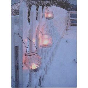 LED obraz na plátně Shining Lantern, 40 x 30 cm