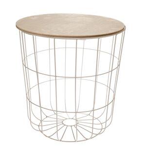 Odkládací stolek Kilenny bílá, 42 cm