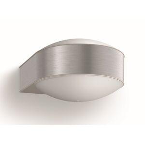 Philips 17336/47/PN Chipmunk Venkovní nástěnné svítidlo 20 cm, stříbrná
