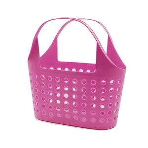 Plastová nákupní taška Soft 11 l, růžová