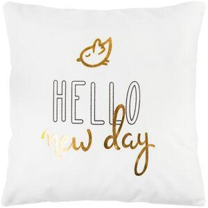 Dakls Povlak na polštářek Hello new day bílá, 45 x 45 cm