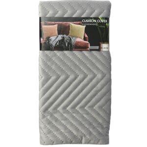 Povlak na polštářek Zigzag šedá, 45 x 45 cm