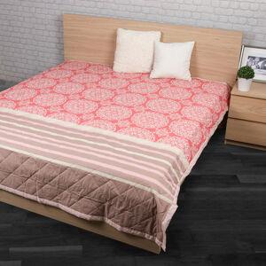Přehoz na postel Morbido lososová