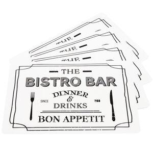 Prostírání oboustranné Bistro bar / Cookers, 42 x 29 cm, sada 4 ks