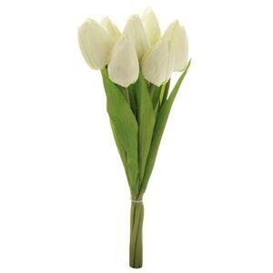 Puget krémových tulipánů, 7 květů, 35 cm