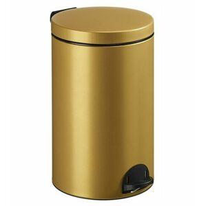 Rossignol Pedálový odpadkový koš Sanelia 20 l, zlatá