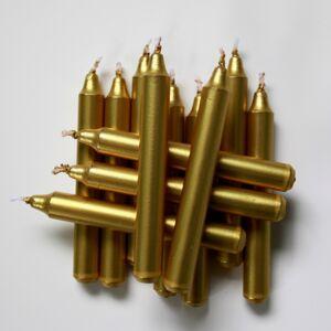Sada metalických svíček k tradičnímu andělskému zvonění Stromek, 12 ks, zlatá