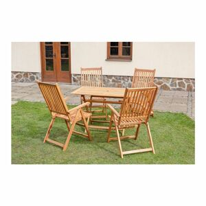 Sada zahradního nábytku s polohovacími židlemi José, 5 ks