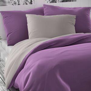 Kvalitex Saténové povlečení Luxury Collection fialová/světle šedá