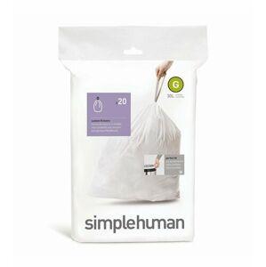 Sáčky do odpadkového koše 30 L, Simplehuman typ G, zatahovací, 20 ks v balení