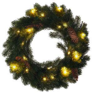 Solight 1v239 Vánoční LED věnec 15 LED, teplá bílá, pr. 40 cm