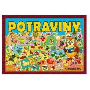 Společenská hra Potraviny, 4 logické hry,  29 x 20 x 4 cm