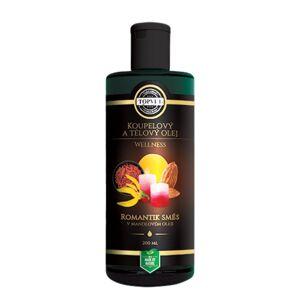 Koupelový a tělový olej romantik směs v mandlovém oleji 200 ml, Topvet