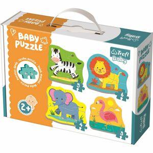 Trefl Baby puzzle Zvířata na safari 4v1 3, 4, 5, 6 dílků