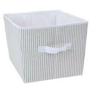 Úložný box 39 x 30 x 24 cm, šedo-bílá