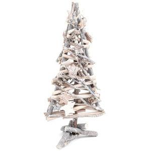 Vánoční dřevěná dekorace stromek Whitewood, 40 cm