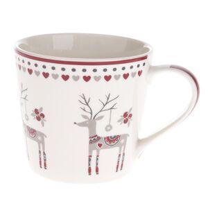 Vánoční porcelánový hrnek Jelen, 400 ml