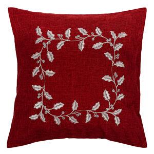 Forbyt Vánoční povlak na polštářek Cesmína červená, 40 x 40 cm