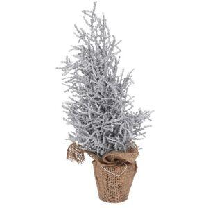 Vánoční stromek v jutě Monza 35 cm, stříbrná