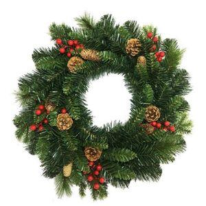 Vánoční věnec Savona zelená, pr. 50 cm