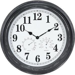 Venkovní nástěnné hodiny s termometrem a hydrometrem, 40 cm