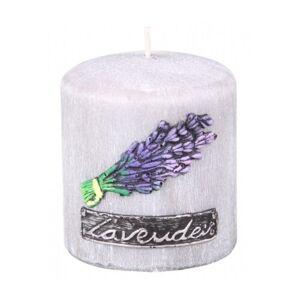 Vonná svíčka Lawenda Provance válec, 8 x 9 cm