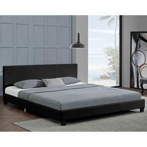 """Čalouněná postel,, Barcelona """"140 x 200 cm - černá"""