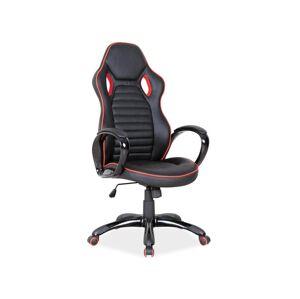 Kancelářská židle Q-105 černá/červená